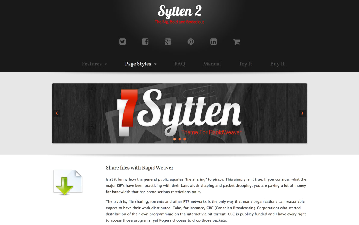 seyDesign Sytten screenshot
