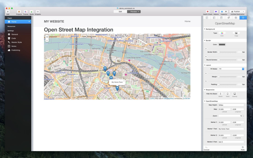 OpenStreetMap Stack screenshot