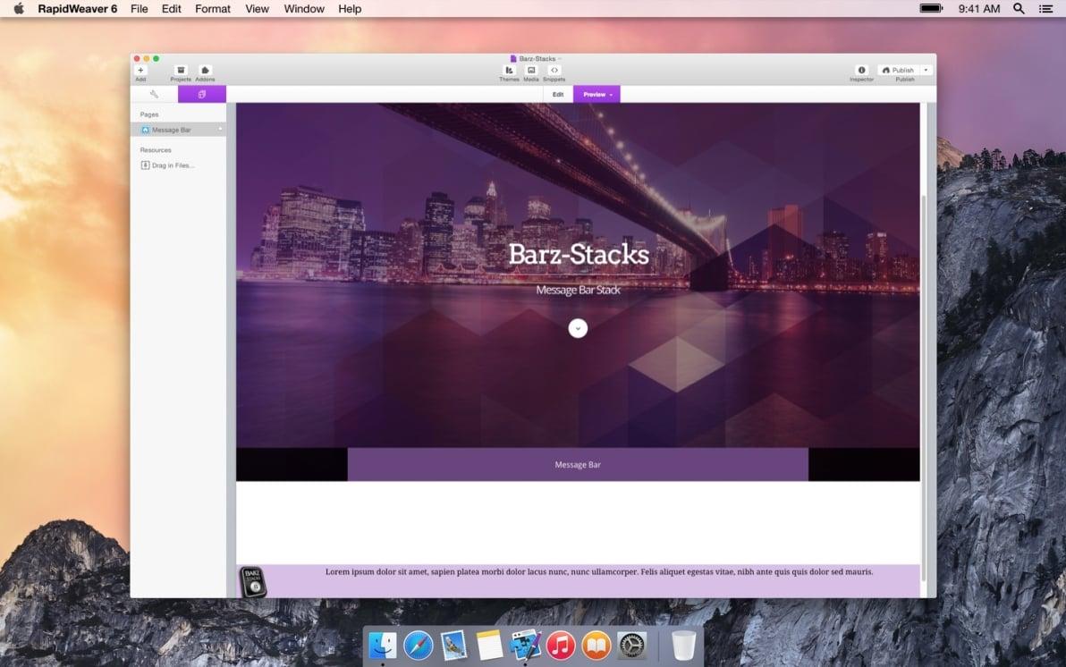 Message Bar screenshot