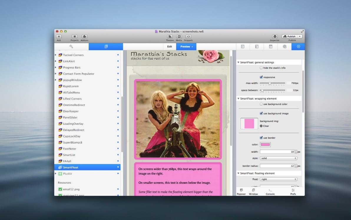 SmartFloat Stack screenshot