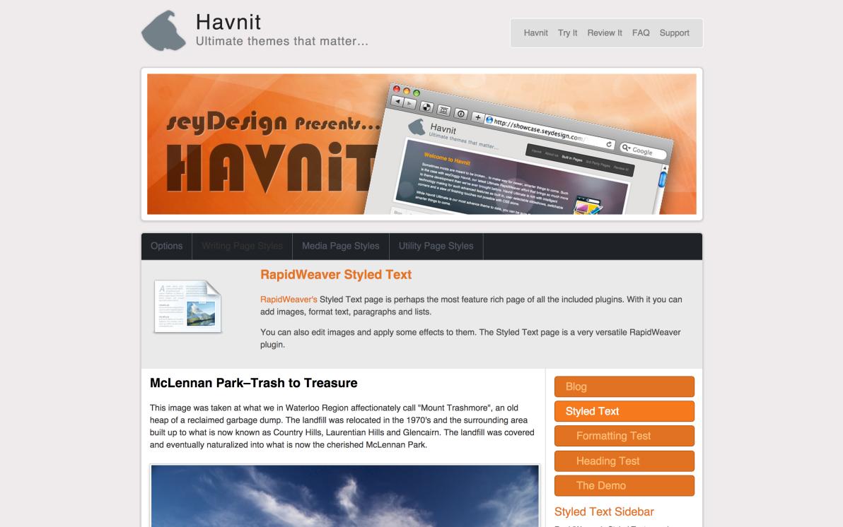 seyDesign Havnit screenshot