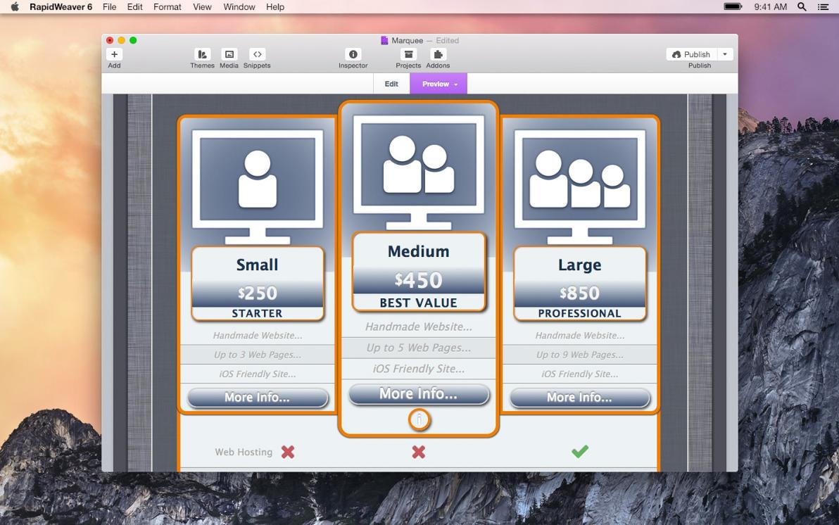 Marquee screenshot