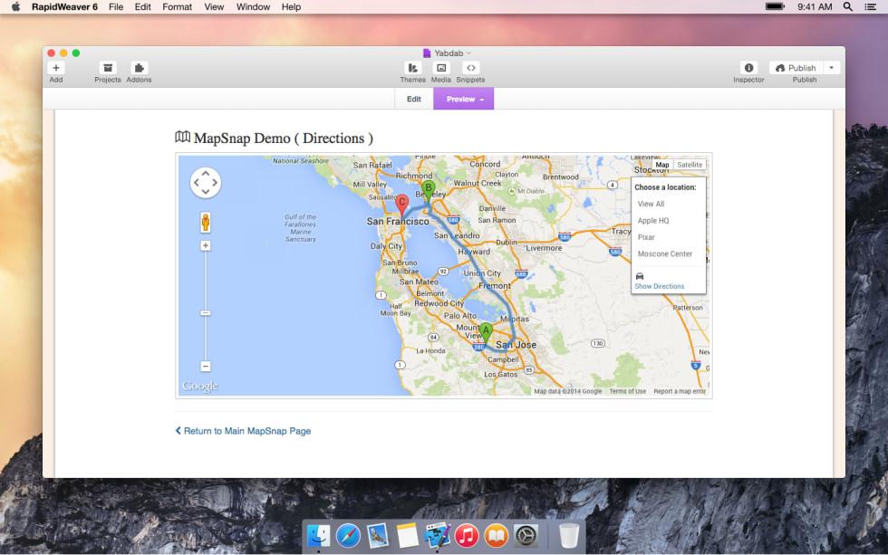 MapSnap screenshot