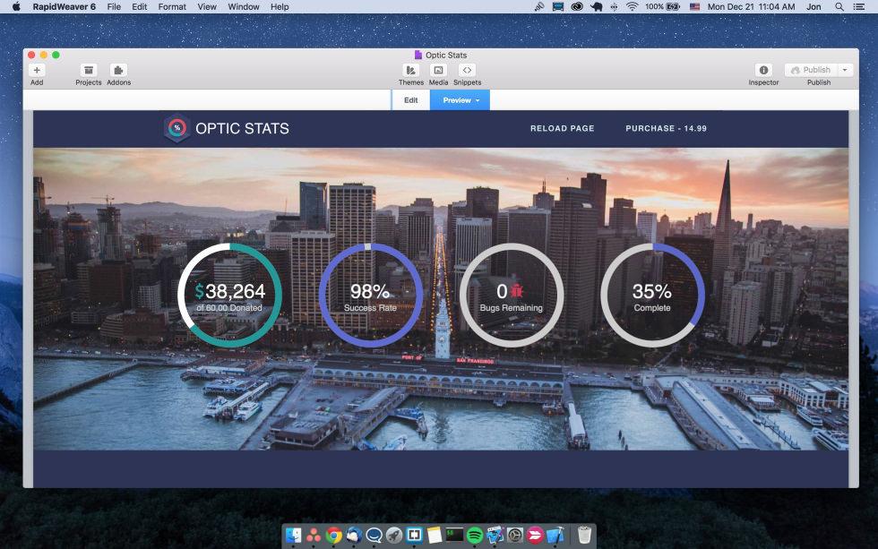 Optic Stats screenshot