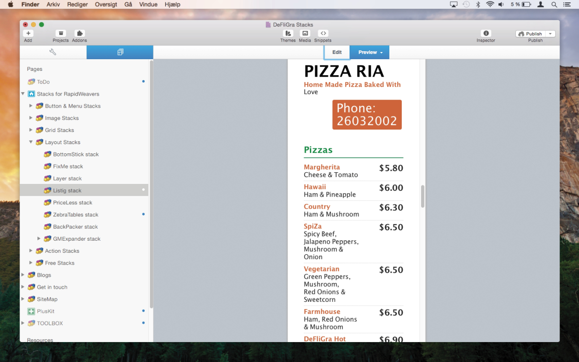Listig Stack screenshot
