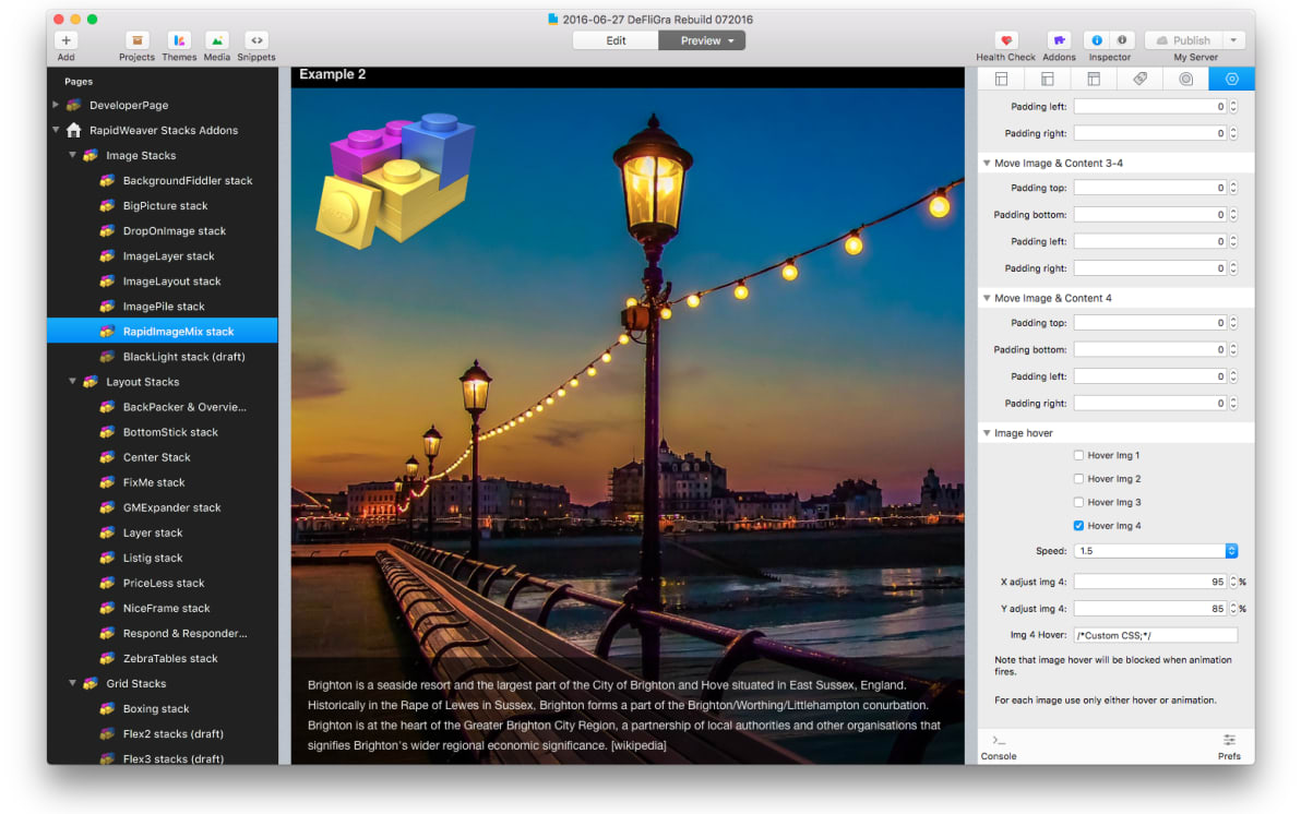 RapidImageMix Stack screenshot