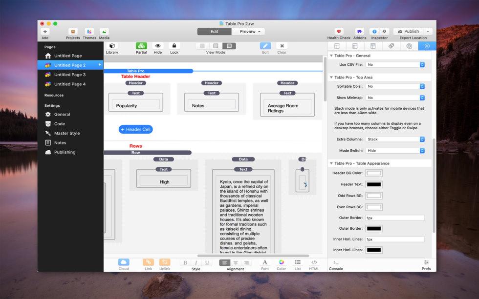 Table Pro screenshot