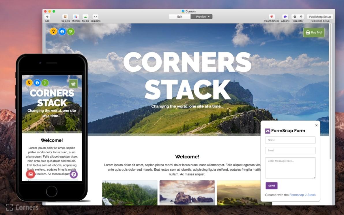 Corners screenshot