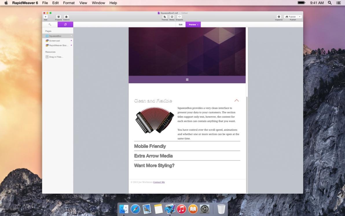 SqueezeBox screenshot