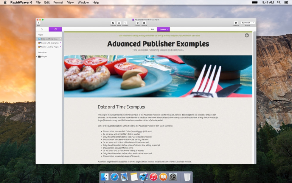 Advanced Publisher screenshot