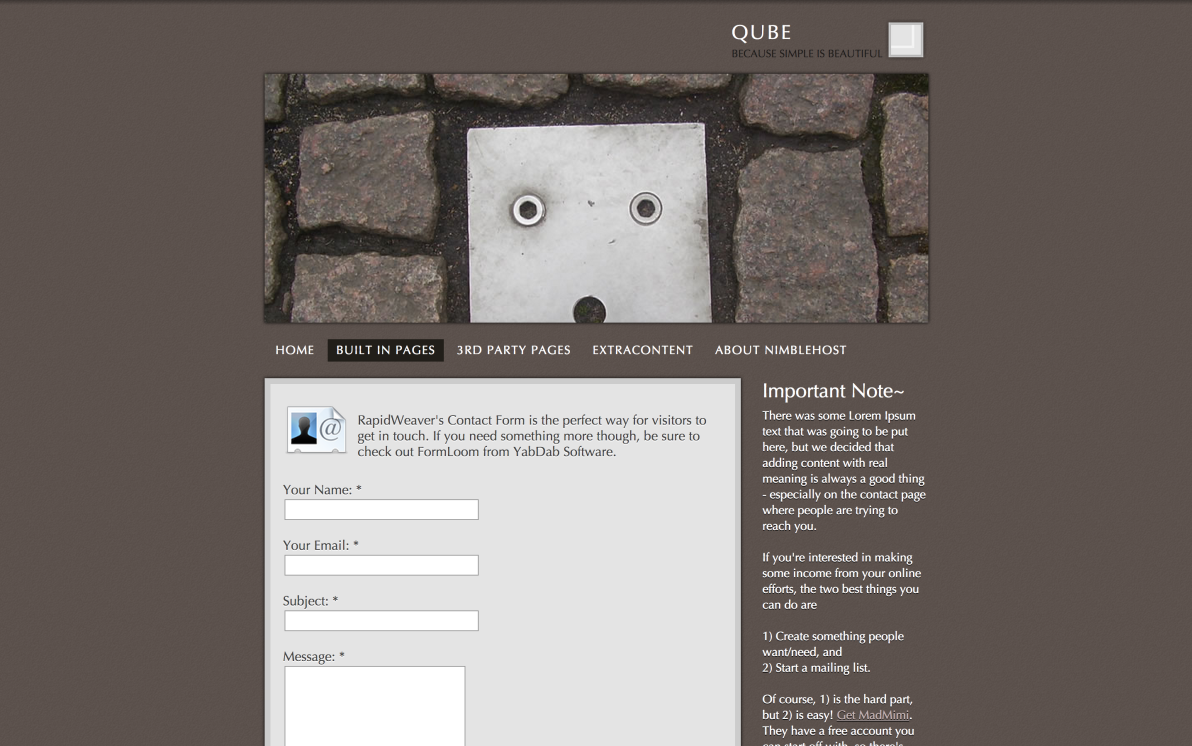 Qube screenshot