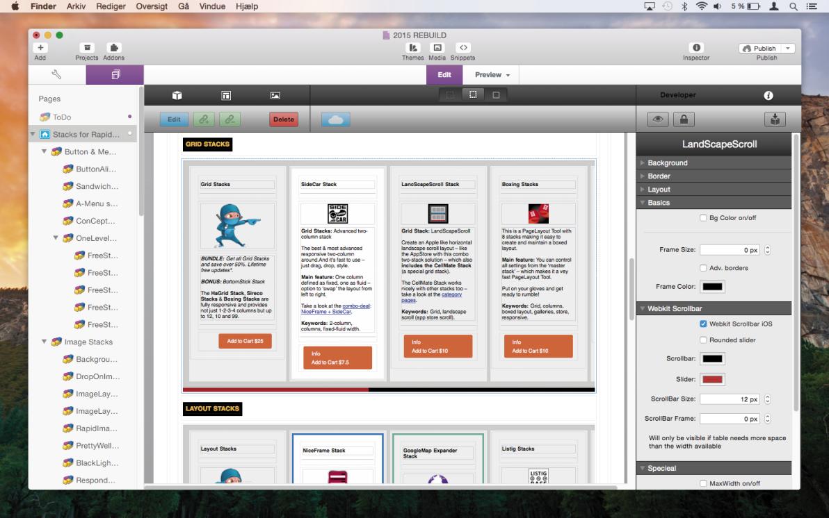 LandScapeScroll Stack screenshot