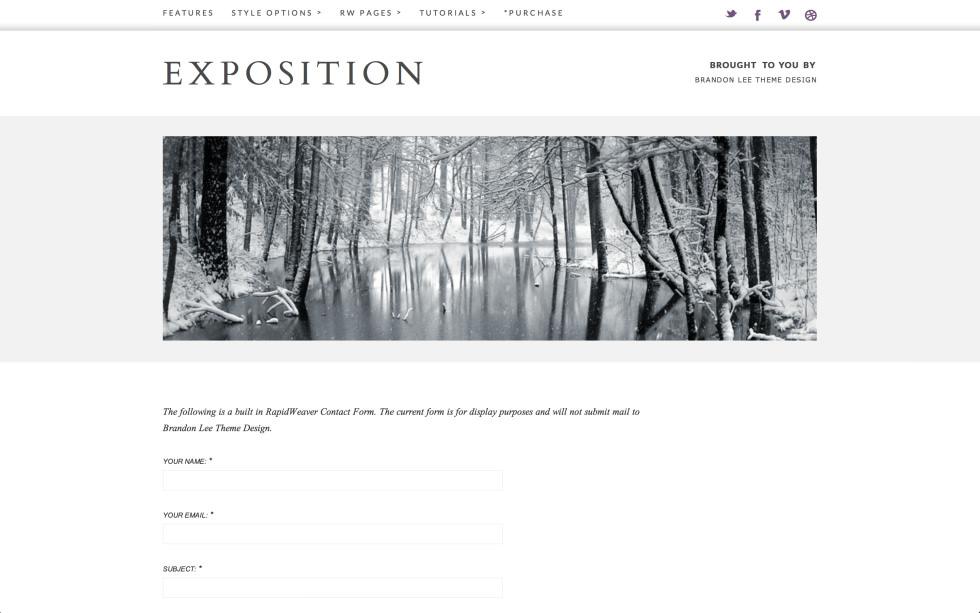 Exposition screenshot