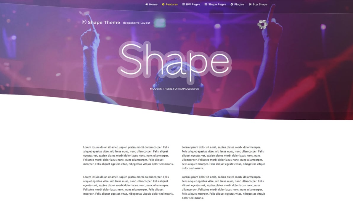 Shape screenshot