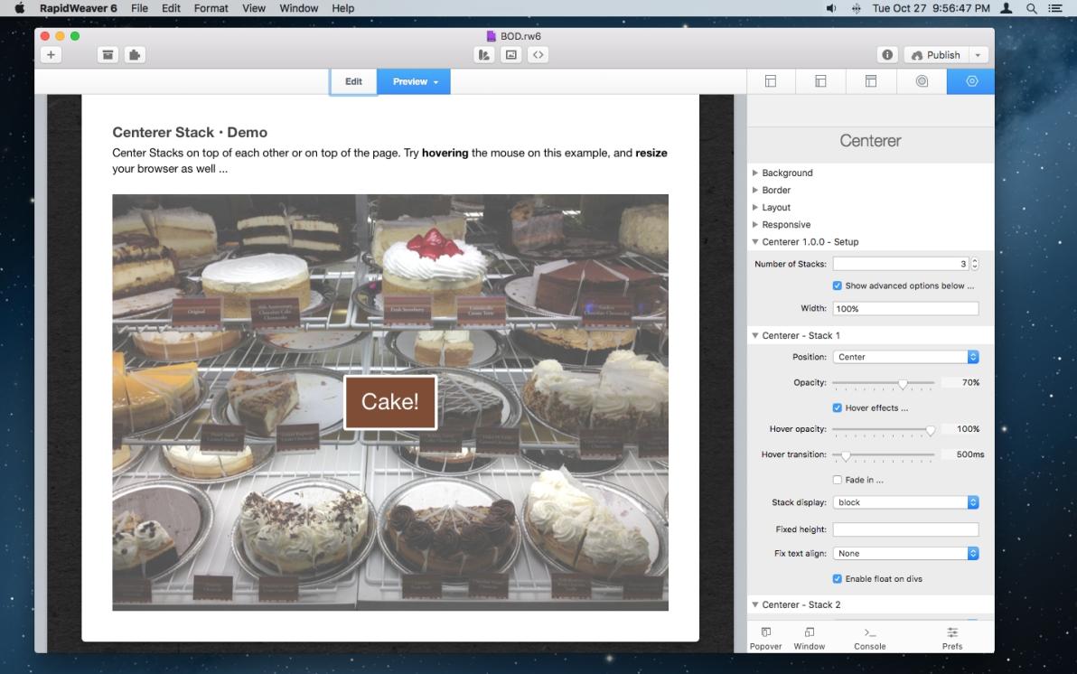 Centerer Stack screenshot