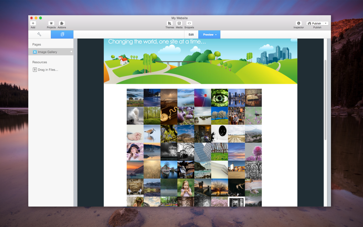 Responsive Image Gallery screenshot