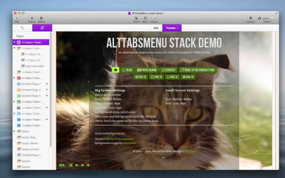 AltTabsMenu Stack screenshot