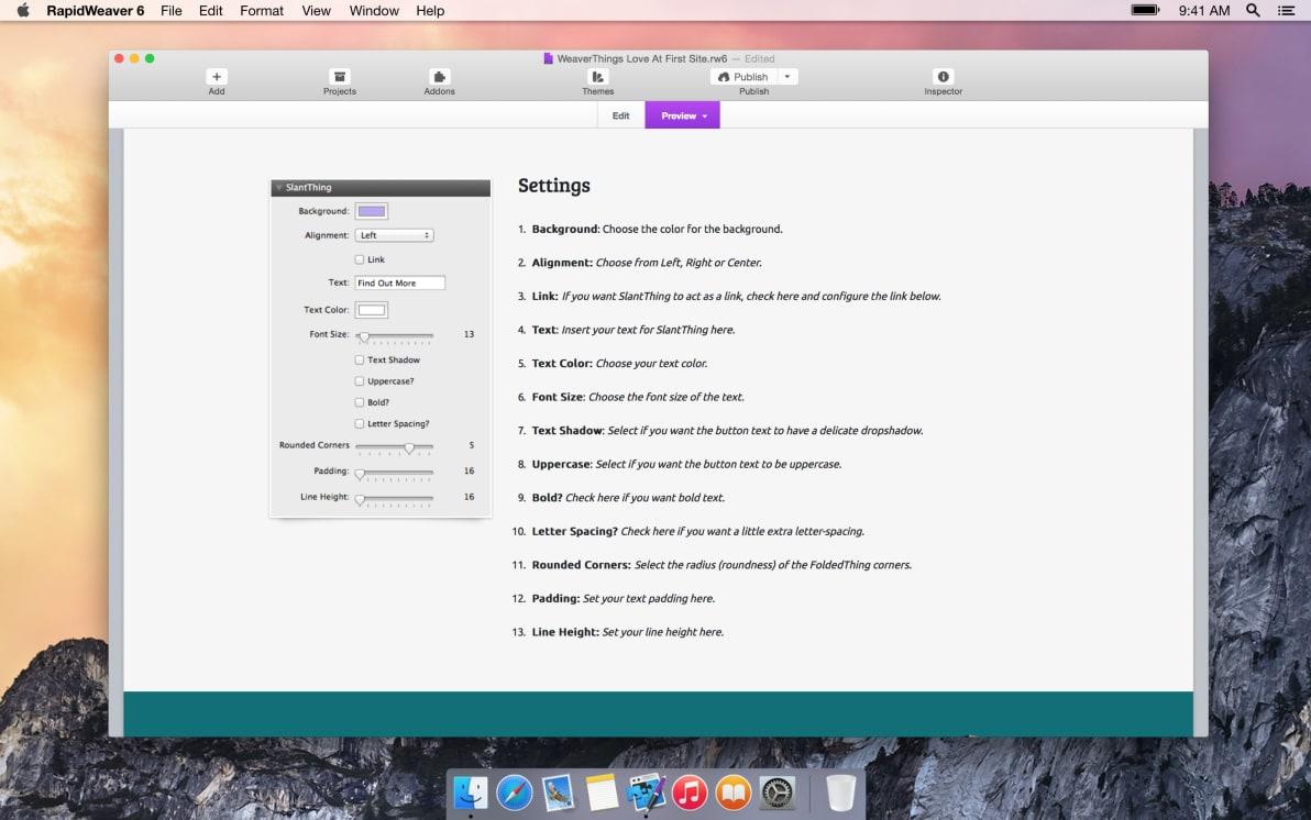 SlantThing screenshot