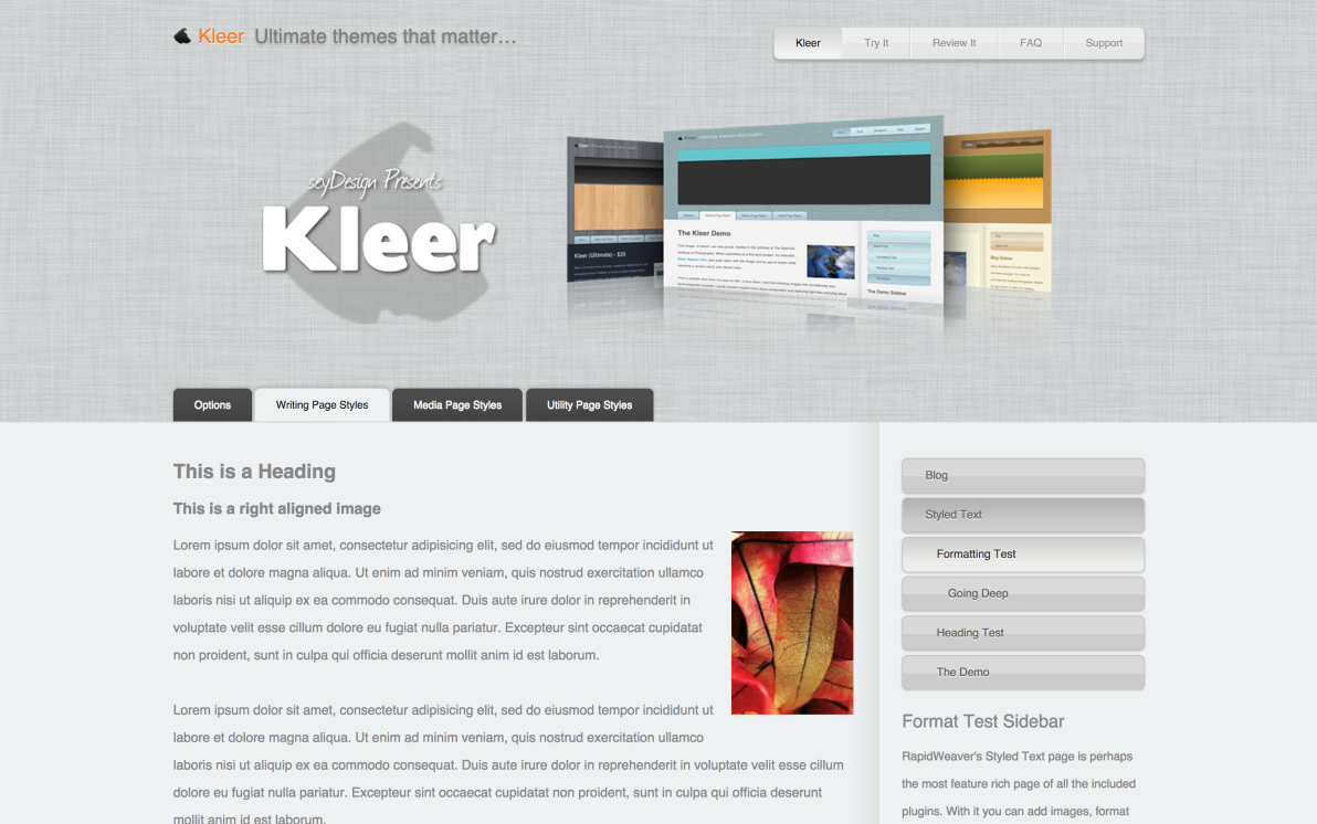 seyDesign Kleer screenshot