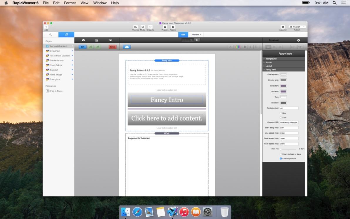 Fancy Intro screenshot