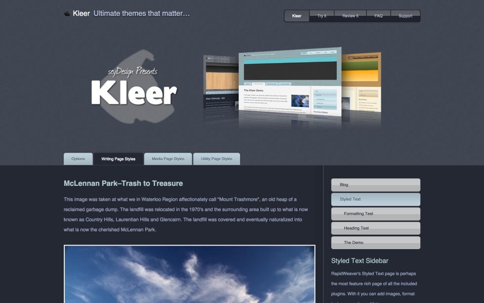 seyDesign Kleer screenshot