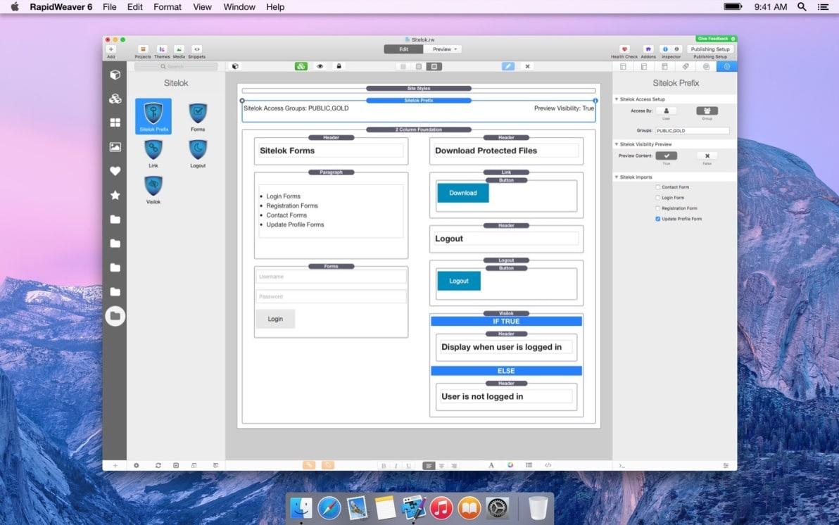 Sitelok screenshot
