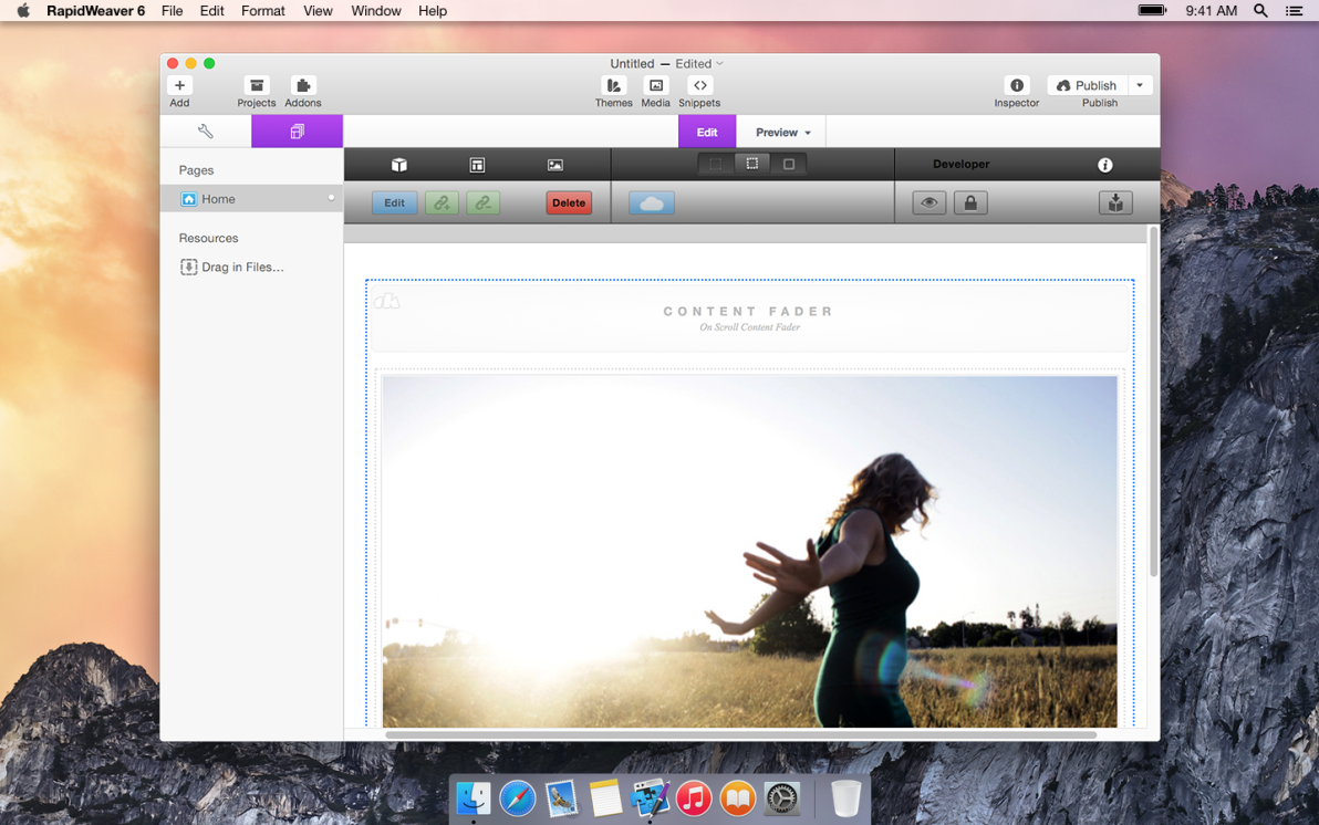 Content Fader screenshot