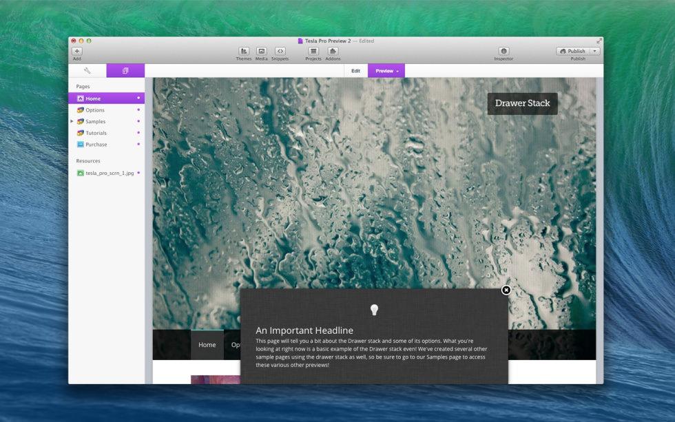 Drawer screenshot