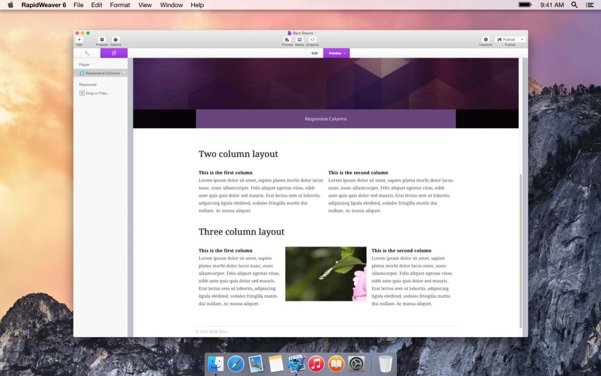 Responsive Columns screenshot