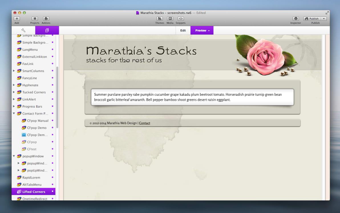 Lifted Corners Stack screenshot