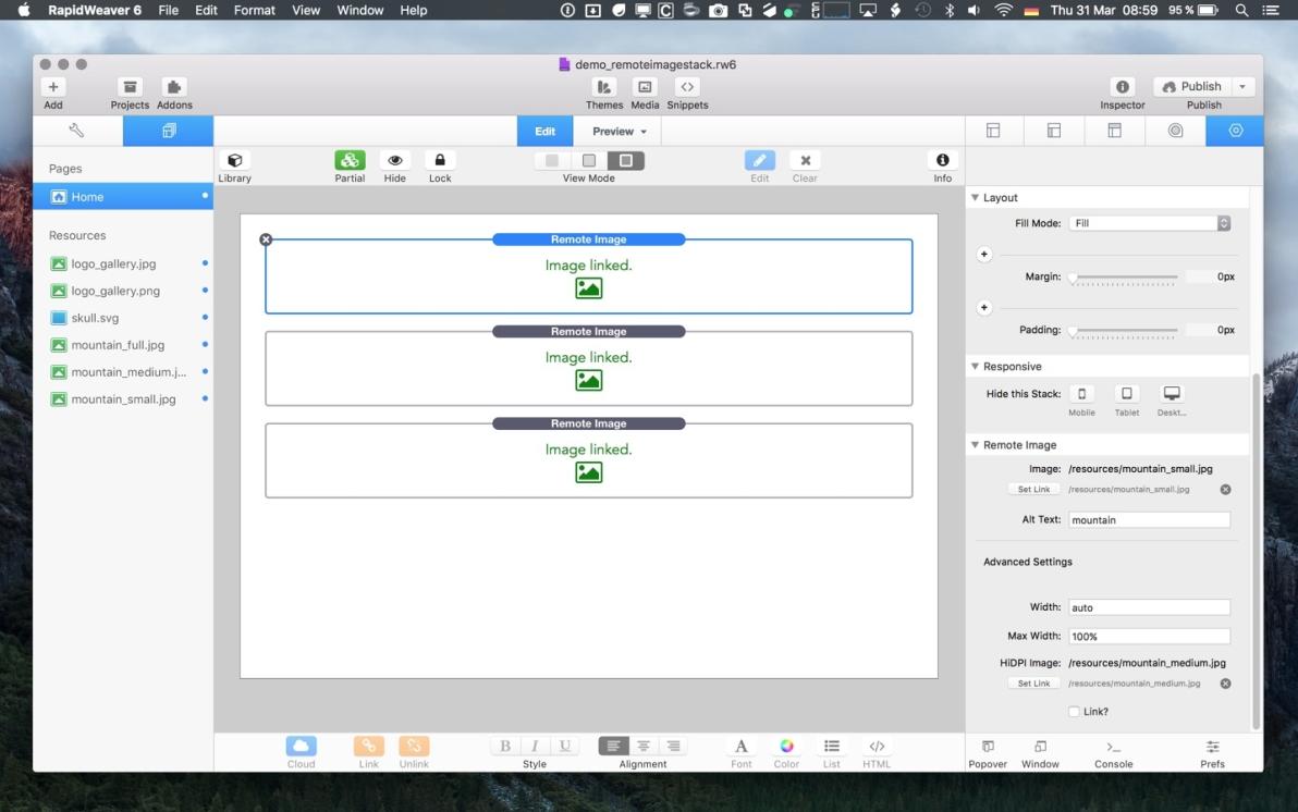 Remote Image Stack screenshot