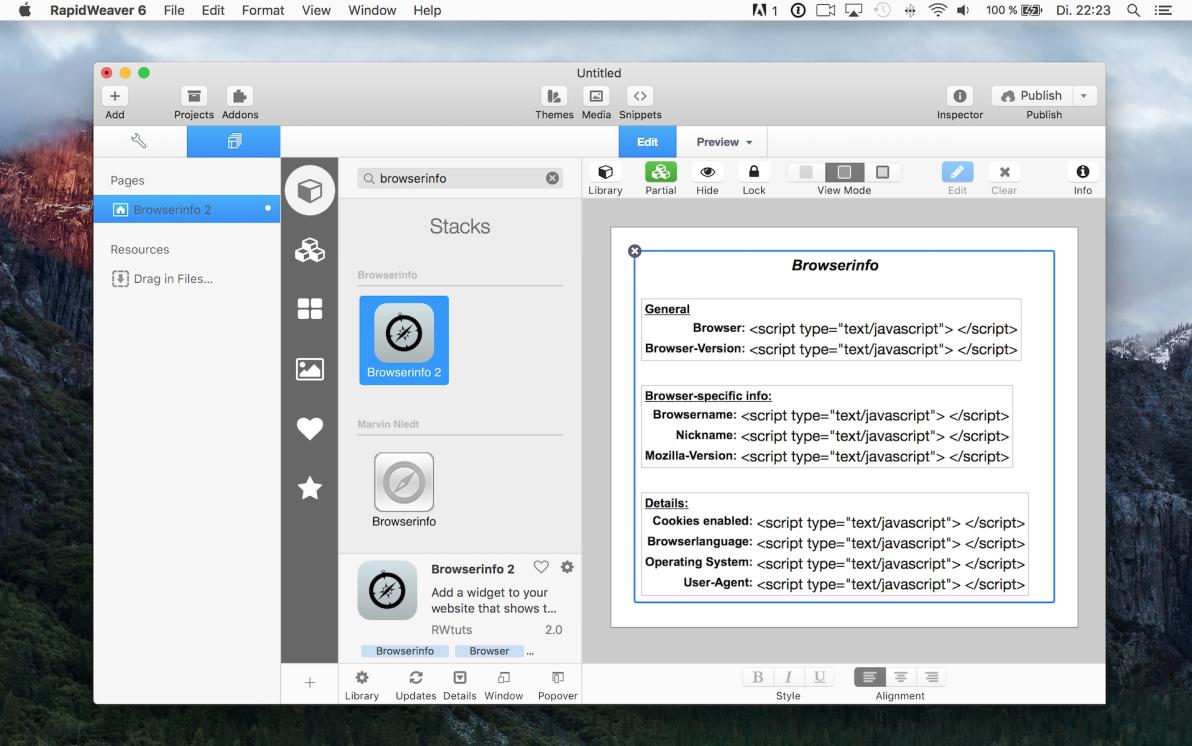 Browserinfo 2 screenshot