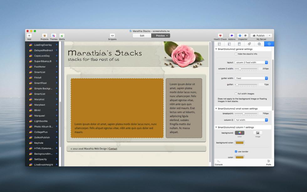 SmartColumns2 Stacks screenshot