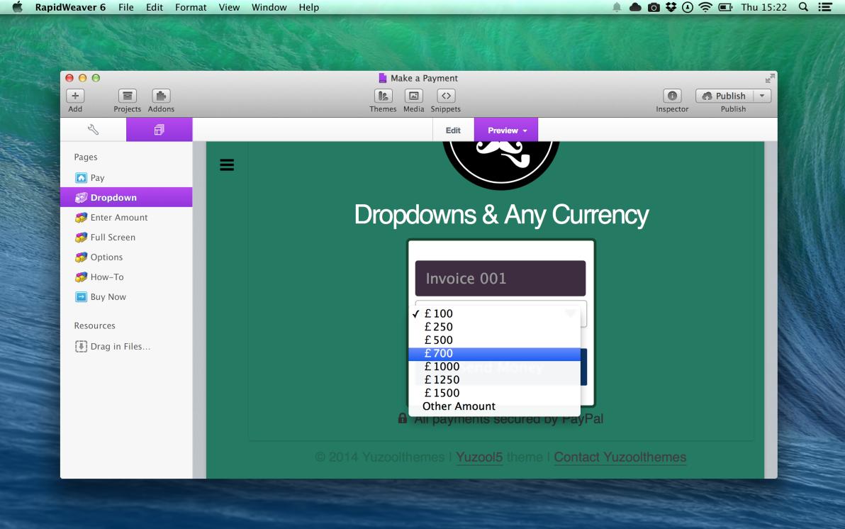 Pay screenshot