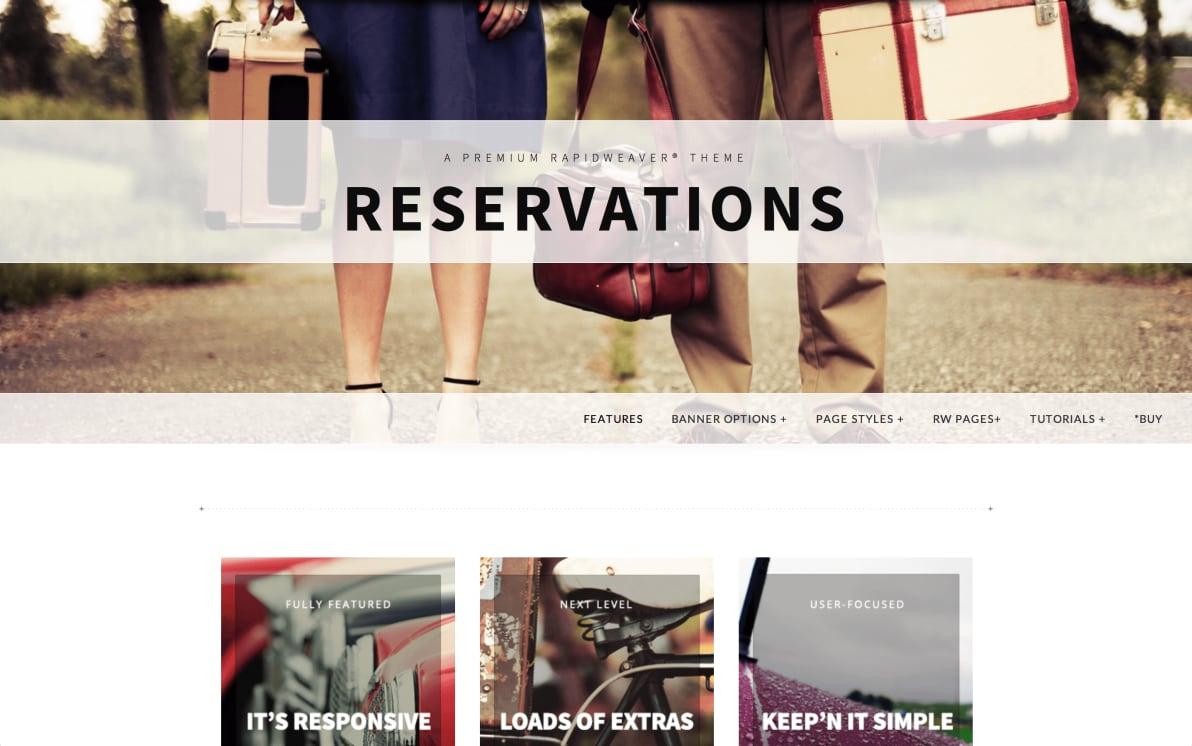Reservations screenshot