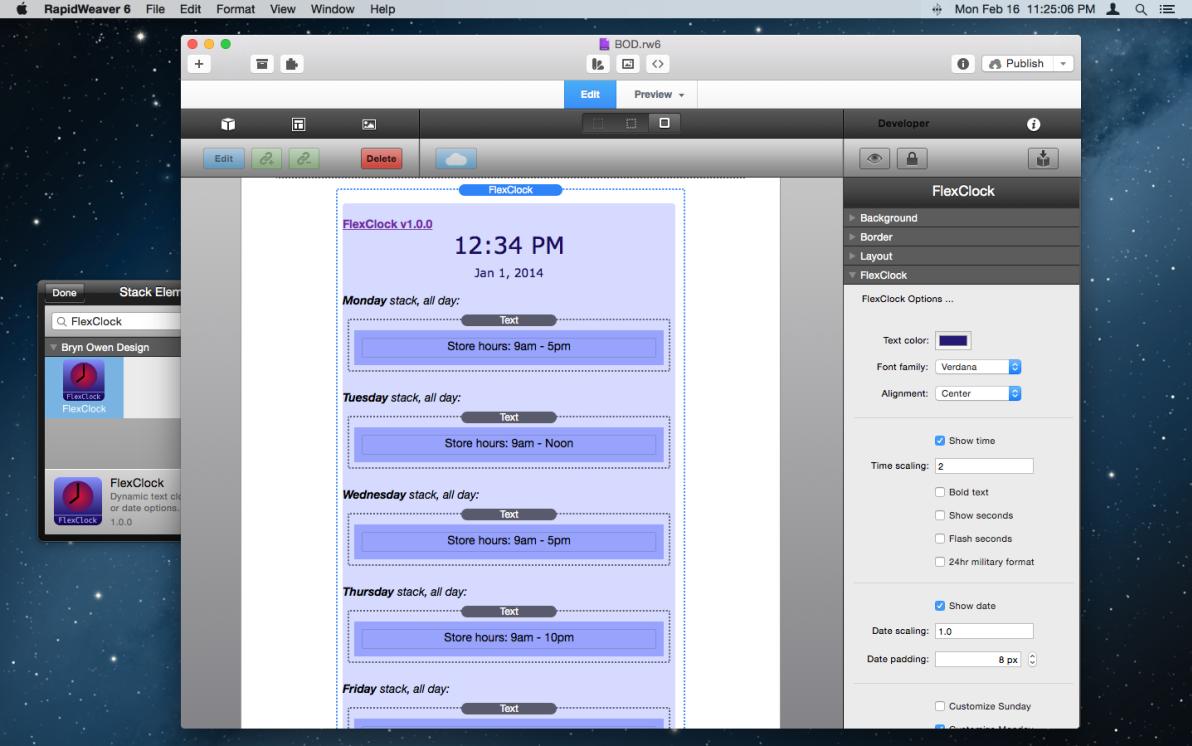 FlexClock Stack screenshot