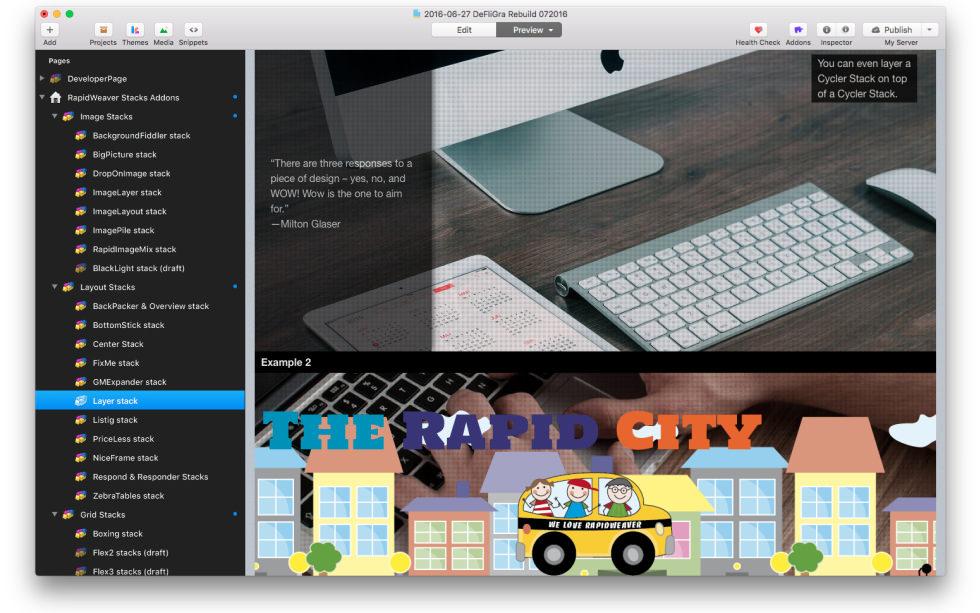 Layer Stack screenshot