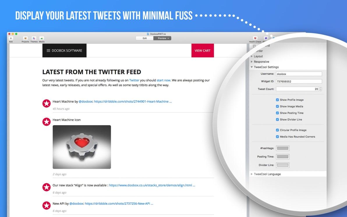 TweeCool screenshot