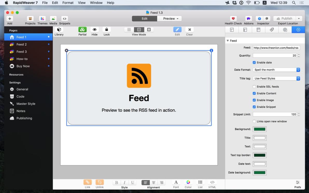 Feed screenshot
