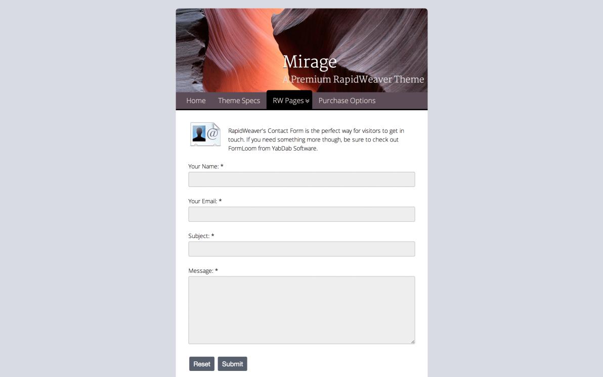 Mirage screenshot