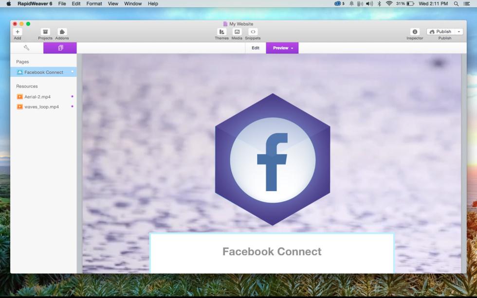 Facebook Connect screenshot
