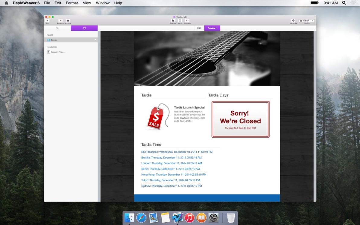 Tardis screenshot