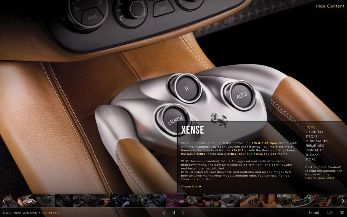 Xense screenshot