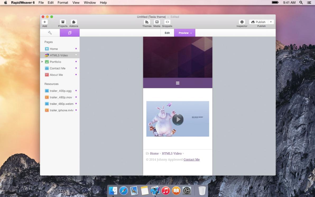 HTML5 Video Stack screenshot
