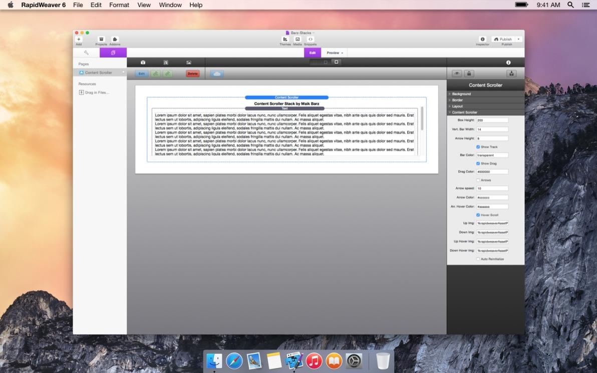 Content Scroller screenshot