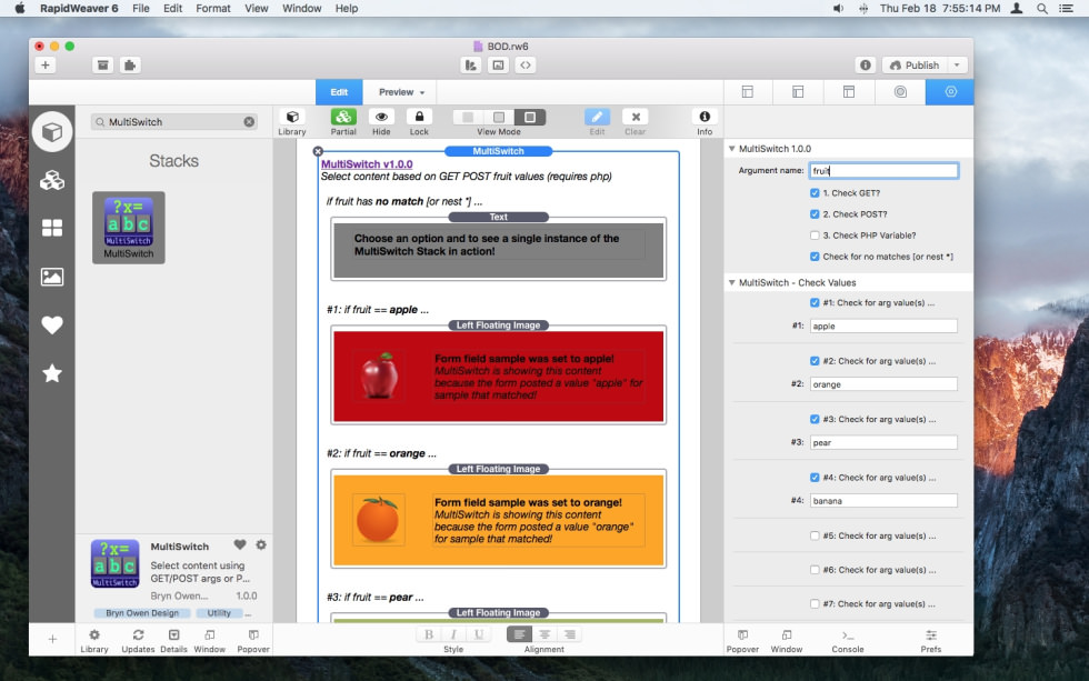 MultiSwitch Stack screenshot