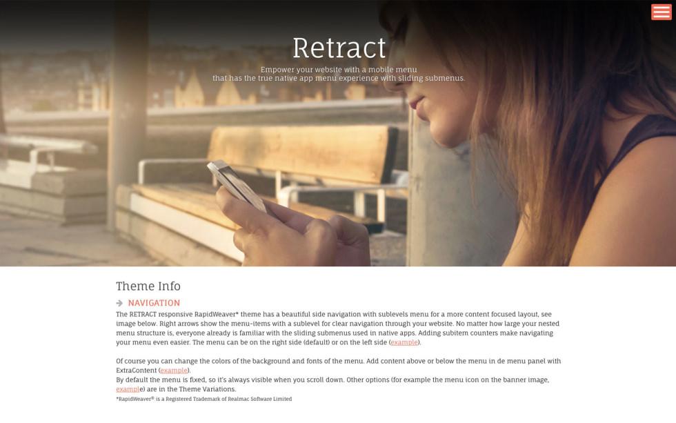 Retract screenshot