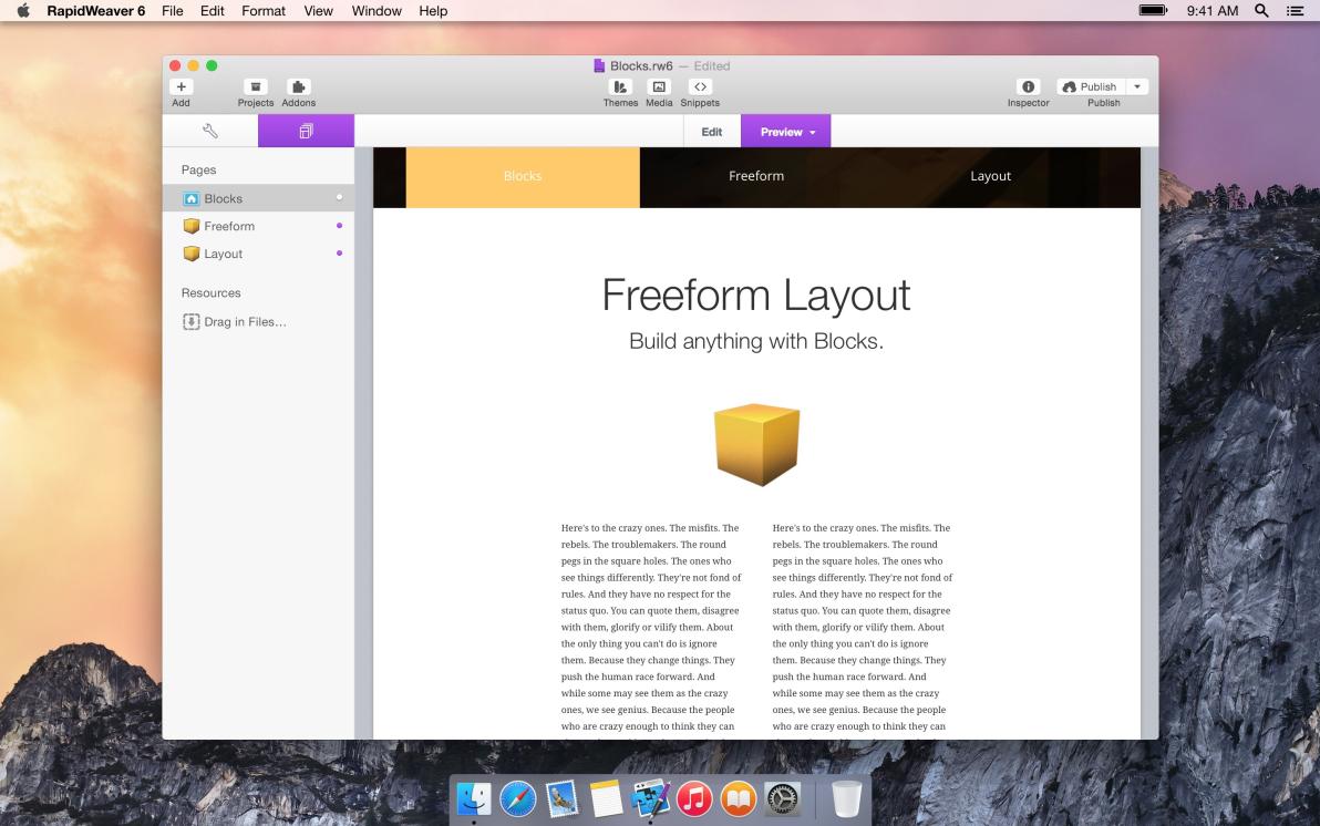 Blocks screenshot
