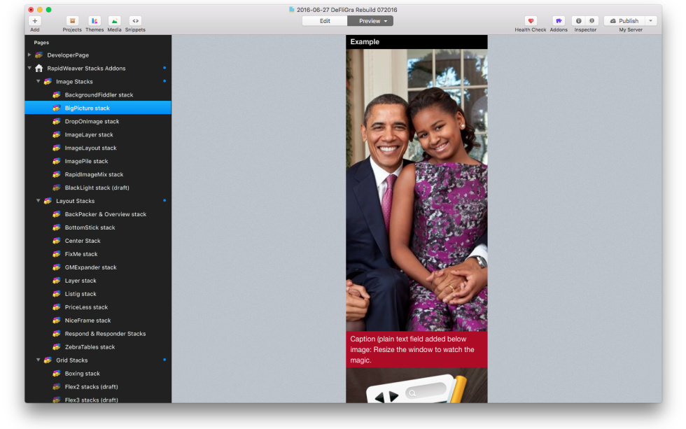 Big Picture Stack screenshot
