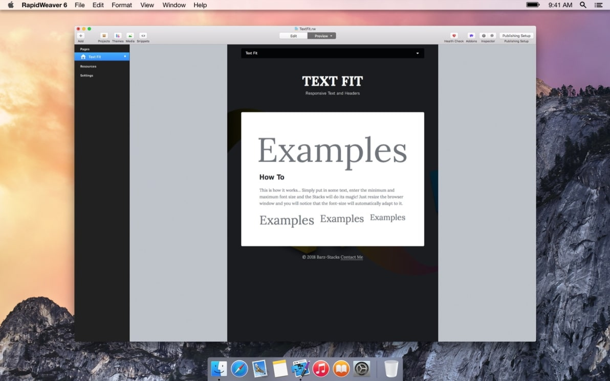 Text Fit screenshot
